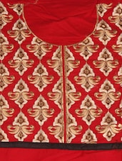 Pretty Red Cotton Salwar Kameez - Style Mania