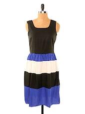 Black And Blue Striped Dress - Missy Miss