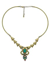 Gold Embellished Tribal Necklace - By