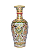 Marble Flower Pot  For Decorating The Drawing Room - Chitrahandicraft