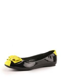 Black And Yellow Ballerinas - Tresmode