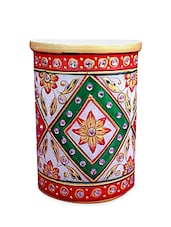 Marble Embossed Ethnic Marble Mobile Stand Pen Stand - Chitrahandicraft