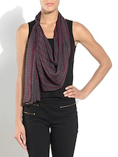 Grey Polyester Printed Scarf - By