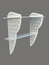 White Cutwork Wooden Wall Bracket - By