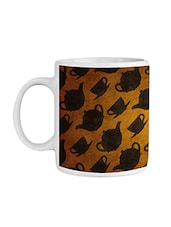 Yellow Ceramic Tea Kettle Coffee Mug - By