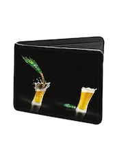 Black Leather Evolution Of Beer Leather Wallet - By