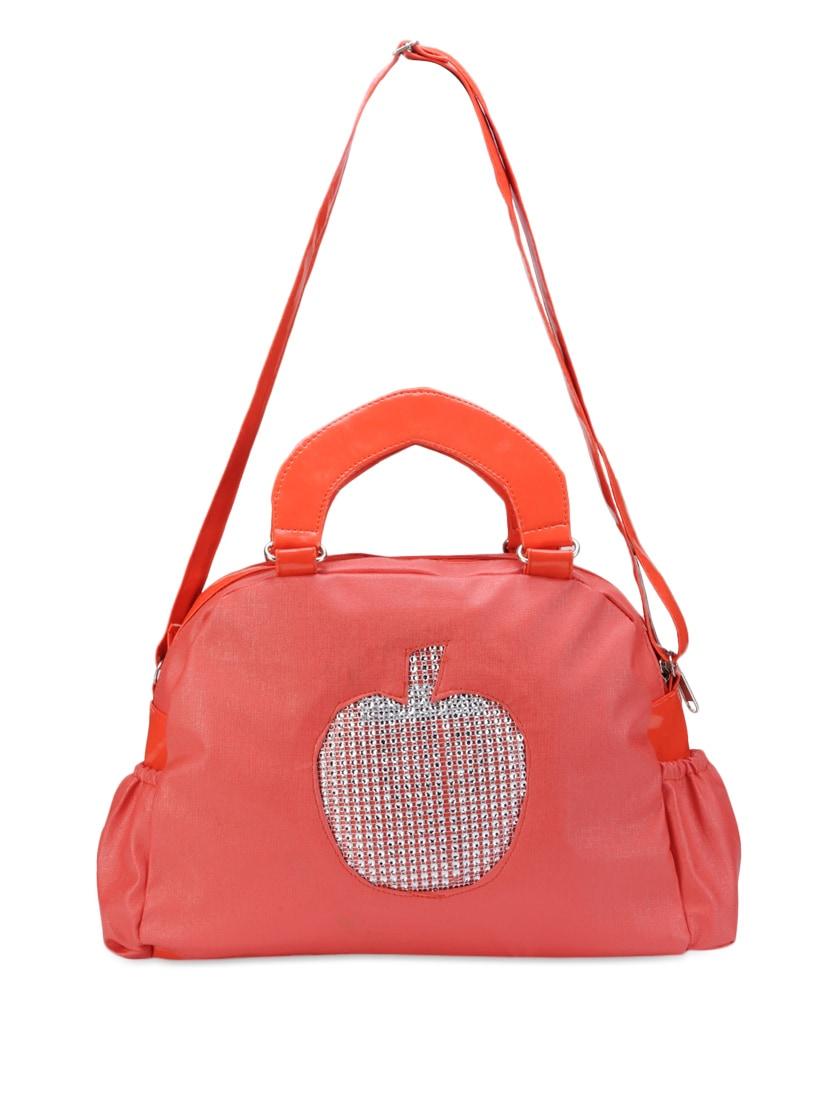 Red Hand Bag Cum Sling Bag - Bags Craze