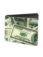 Black Leather Money Wallet - By