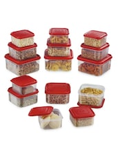 Red Air Tight Containers Set - Prime Housewares