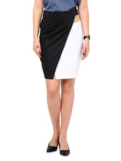 Multi Cotton, Satin And Lycra  Pencil Skirt - By