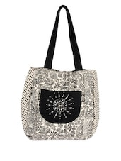 Classy Black And White Tote Bag - Pick Pocket