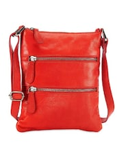 Siren Red Leather Sling Bag - Phive Rivers