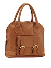 Tan Brown Genuine Leather Handbag - Phive Rivers