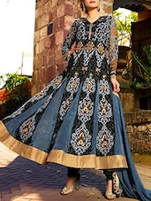 Grey Georgette Embroidered Salwar Suit Set - By