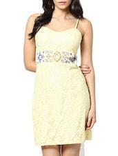 Lemon Yellow Sheath Dress - Stykin