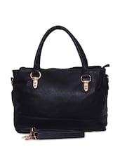 Black Pu Handbag - By - 9582549