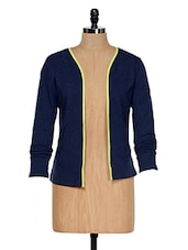 Navy Blue Shrug - Colors Couture