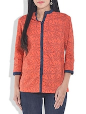 Red Cotton Block Printed Tunic - By