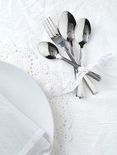 Stainless Steel 24 Piece Cutlery Set With Stand - By