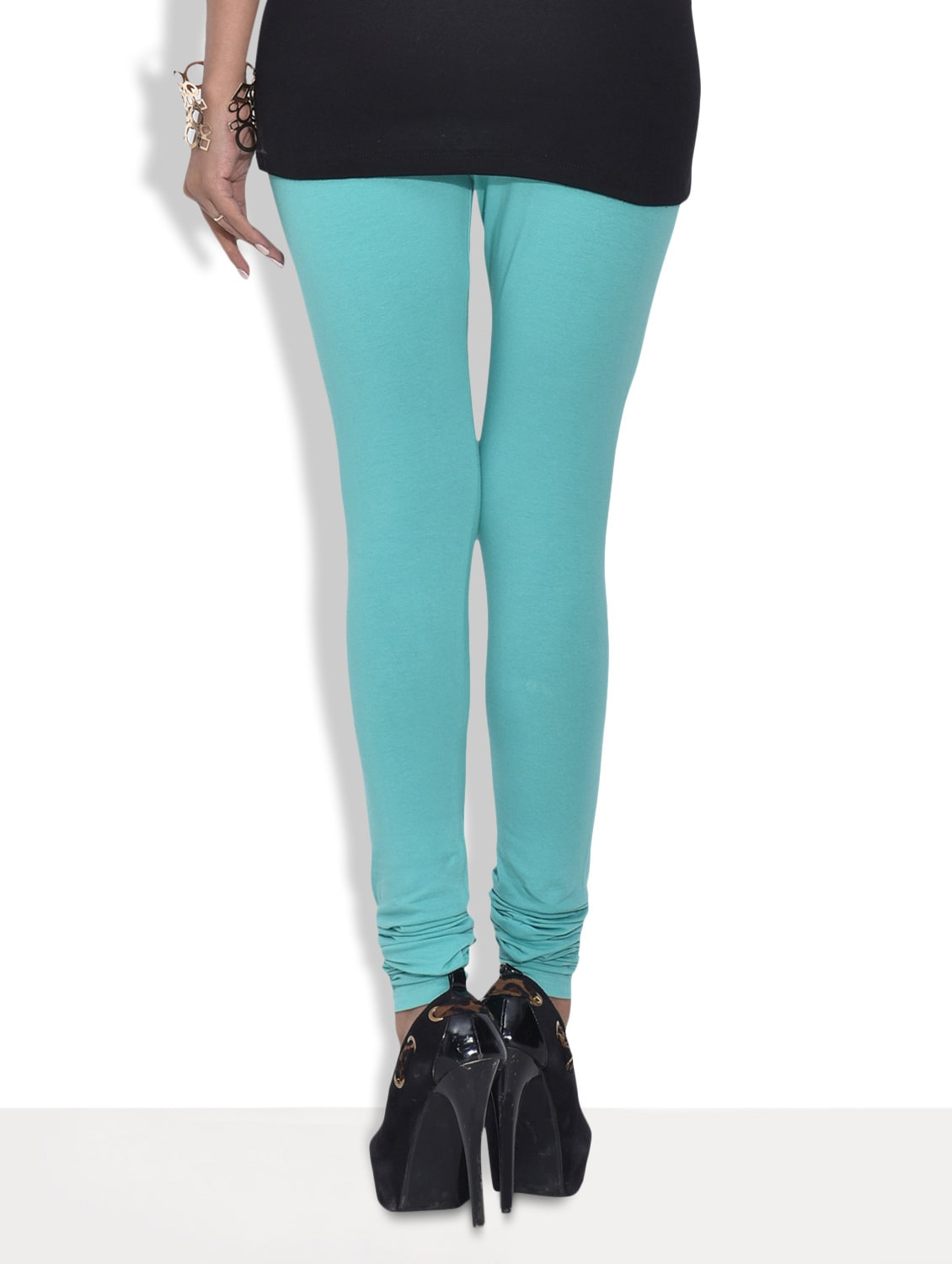 c489d7d52fe417 Buy Blue Cotton And Spandex Churidar Leggings by Frenchtrendz - Online  shopping for Leggings in India | 9592284