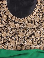 Gorgeous Green Embroidered Dress Material - Khantil