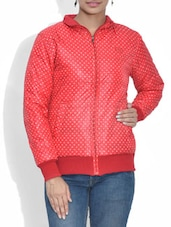 Red Polka Dots Reversible Jacket - By