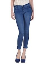 Ankle Length Light Blue Jeans - Dashy Club