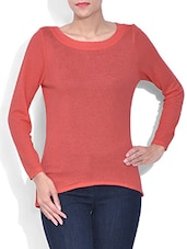 Solid Orange Cotton Top - By