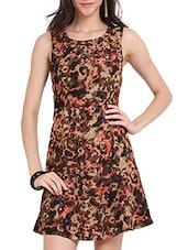 Animal Print Skater Dress - Ridress
