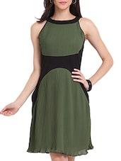 Pleated Skater Dress - Ridress