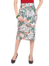 Floral Print Pencil Skirt - Ridress