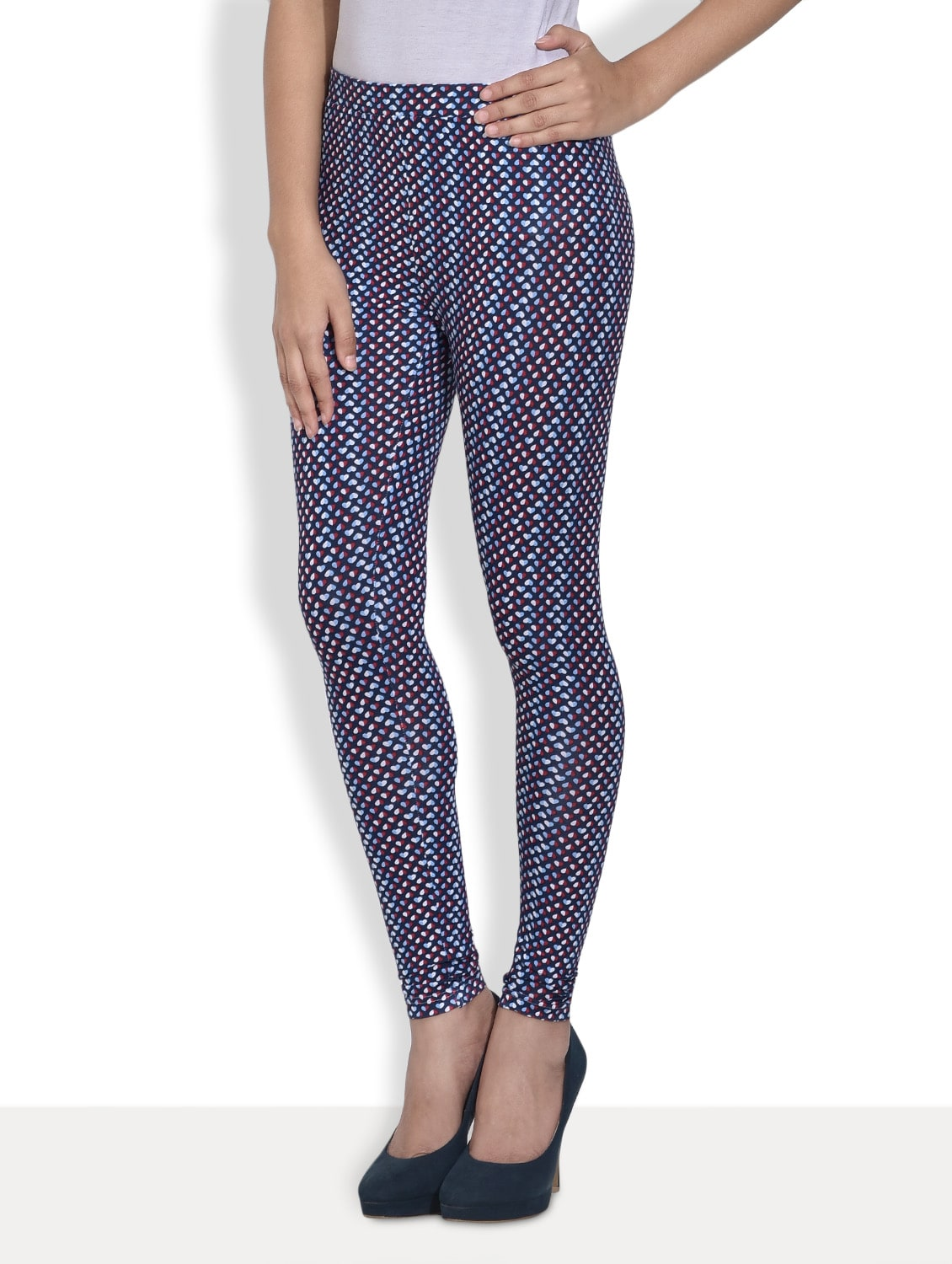 f9277052be7 Buy Navy Blue And White Printed Leggings for Women from Sera for ₹400 at 50%  off