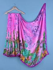 Pink Floral Print Saree - Shrimatiji Sarees