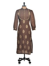 Party Wear Gold Print With Embroidered Yoke - Tulsattva