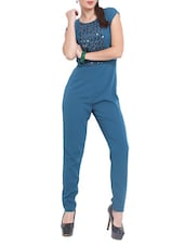 Blue Sequined Jumpsuit - Pera Doce