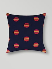 Set Of 2 Black Printed Cotton Cushion Covers - By