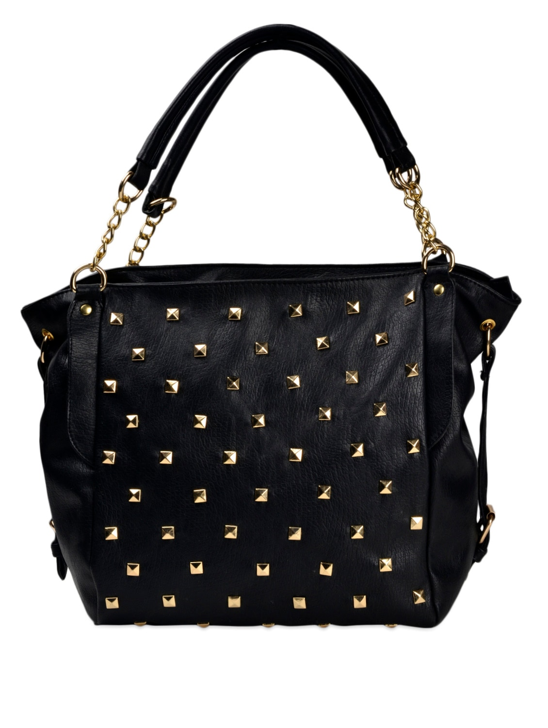 3dbbb4d2e609 Buy Black Leatherette Handbag by Lychee Bags - Online shopping for Handbags  in India