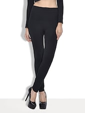 solid black woolen leggings -  online shopping for Woolen leggings