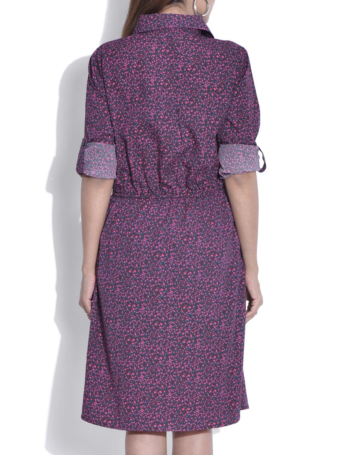 7f6a138a38d Buy Purple Poly Crepe Shirt Dress for Women from Color Cocktail for ₹472 at  57% off