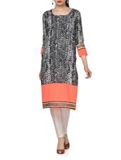 Monochrome Straight Kurta And Pants Set - Chitwan Mohan