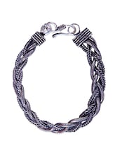 Silver Plated Braided Bracelet - By