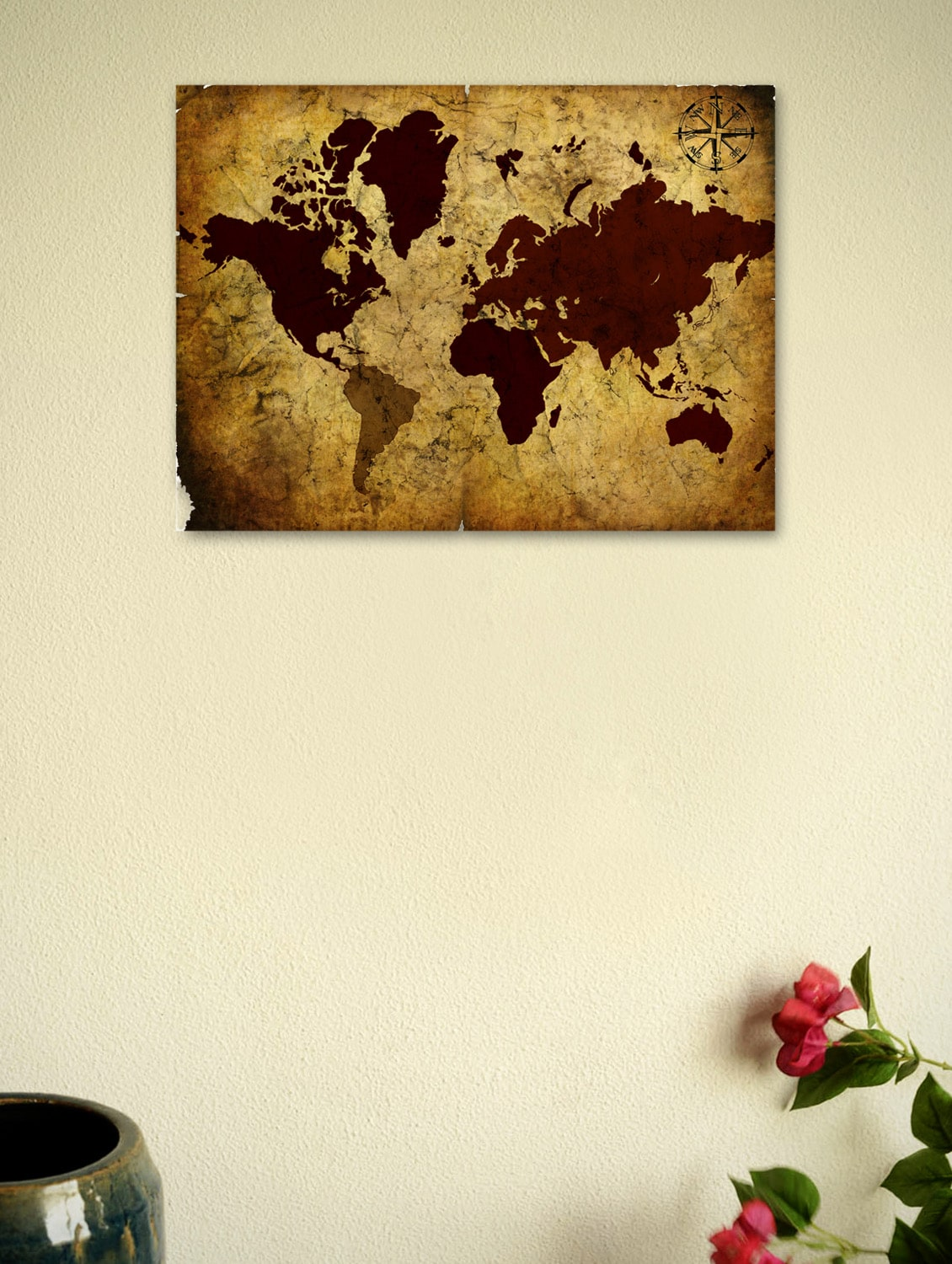 Buy vintage world map 03 poster by seven rays online shopping for vintage world map 03 poster tn1 explore this look hover over image to zoom gumiabroncs Images