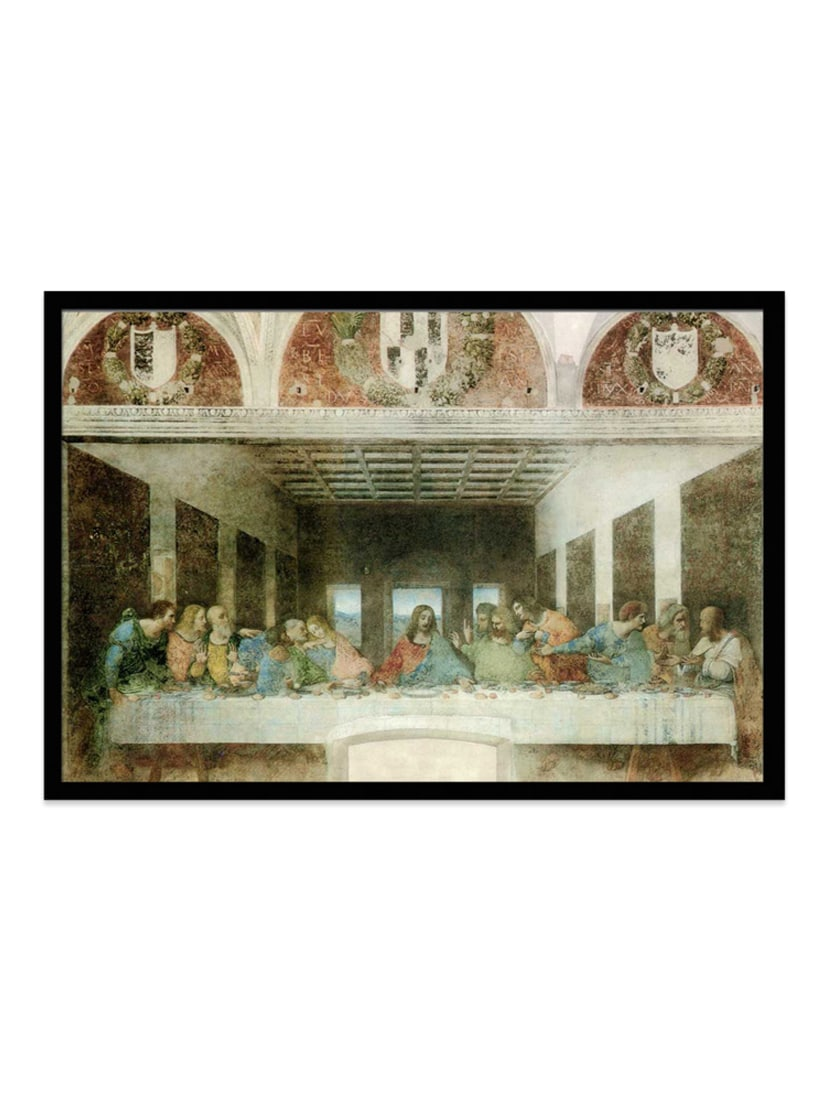 Buy Last Supper By Leonardo Da Vinci Framed Poster By Seven Rays