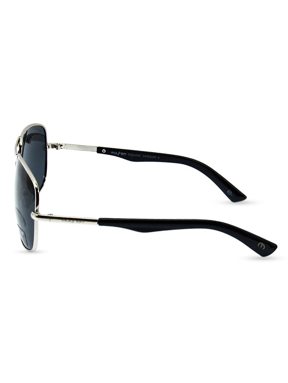 f5c2258b32 Buy Silver Metallic Sunglasses With Black Polycarbonate Lens by Mayhem -  Online shopping for Sunglasses in India