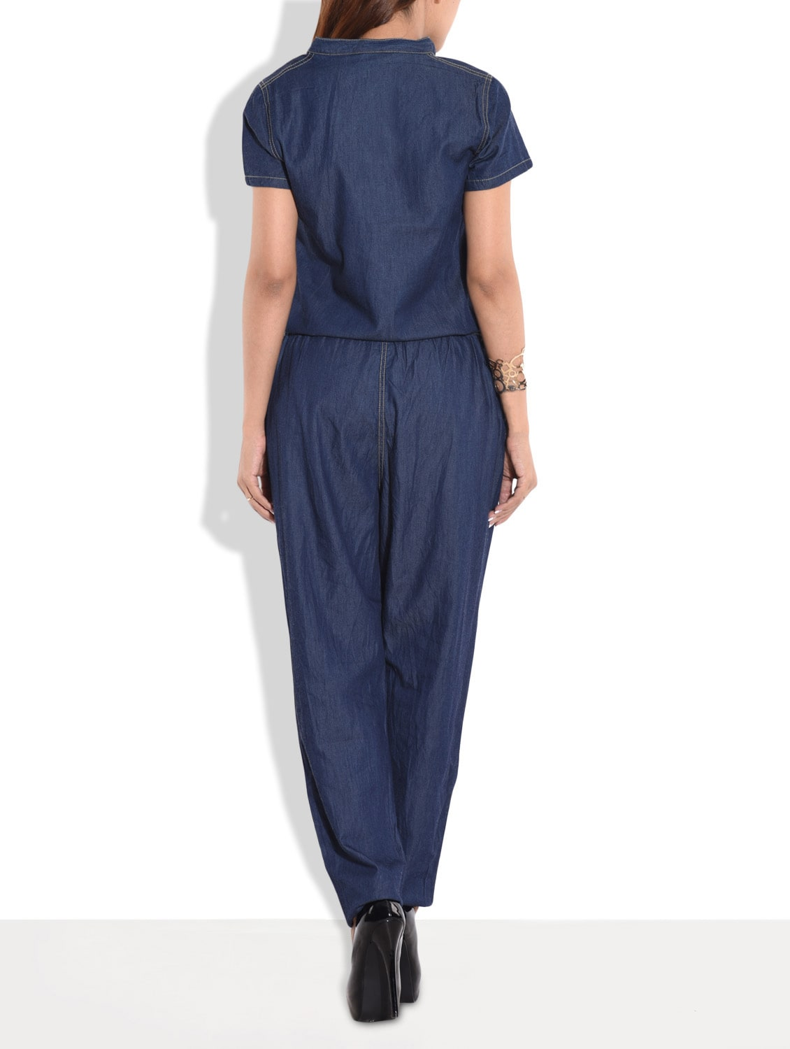 3cda0f3ace64 Buy Dark Blue Denim Jumpsuit for Women from The Vanca for ₹900 at 61% off