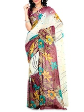 Multicoloured Faux Georgette Printed Saree - By - 9656445