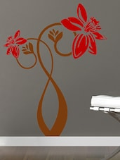 Bunch Of Flowers  In Red  Wall Decal - Chipakk