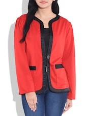 Red N Black Full Sleeved Jacket - By