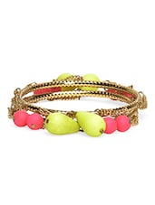 Gold Plated Stones Embellished Bangles Set - By