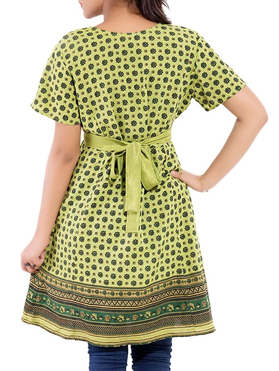 f8650e81e59 Buy Green Rayon Printed Tunic for Women from Goodwill for ₹400 at 60% off |  2019 Limeroad.com